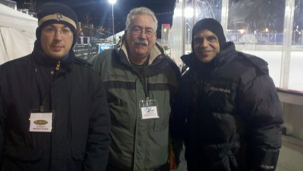 Me, Mike Mangan and John Rubino at the PIHL City Game